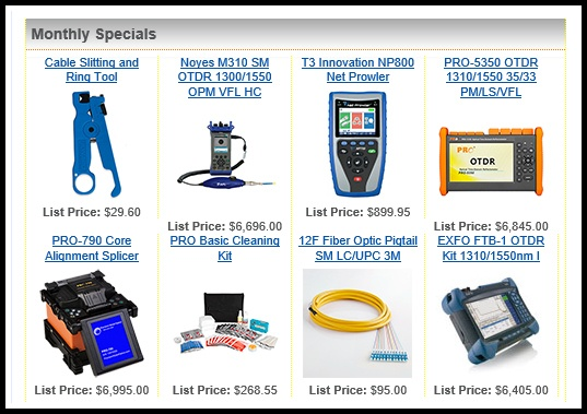 fiber optic store monthly specials